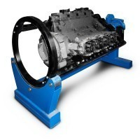 Р776Е - стенд для ремонта V образных двигателей КАМАЗ/ЯМЗ с ручным приводом
