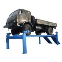 ПЛ10 - платформенный 4-стоечный подъемник для автомобилей и автобусов, массой до 10 т
